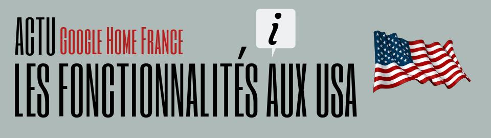 Les fonctionnalités US non disponible en France