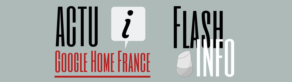 Flash info Google Home France