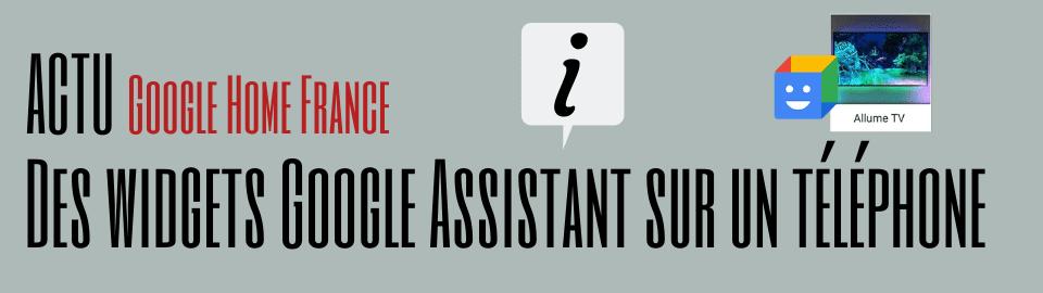 Action Blocks : Des widgets Google Assistant sur votre téléphone