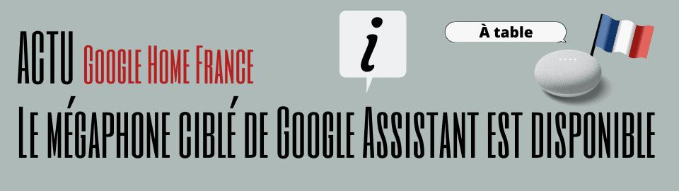 Le mégaphone ciblé de Google Assistant est disponible en France