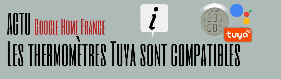 Les thermomètres Tuya sont compatibles Google Assistant