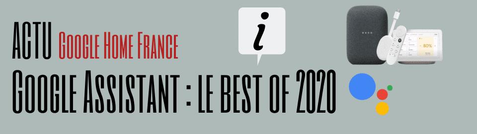 Assistant Google : Le Best Of 2020 !!