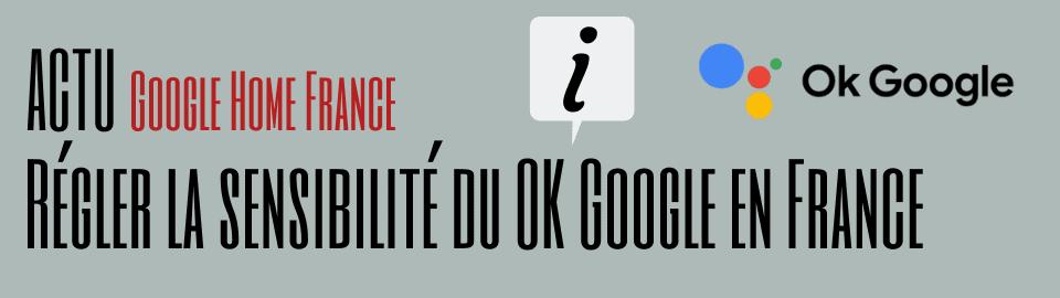 Le réglage de la sensibilité à OK Google est disponible en France